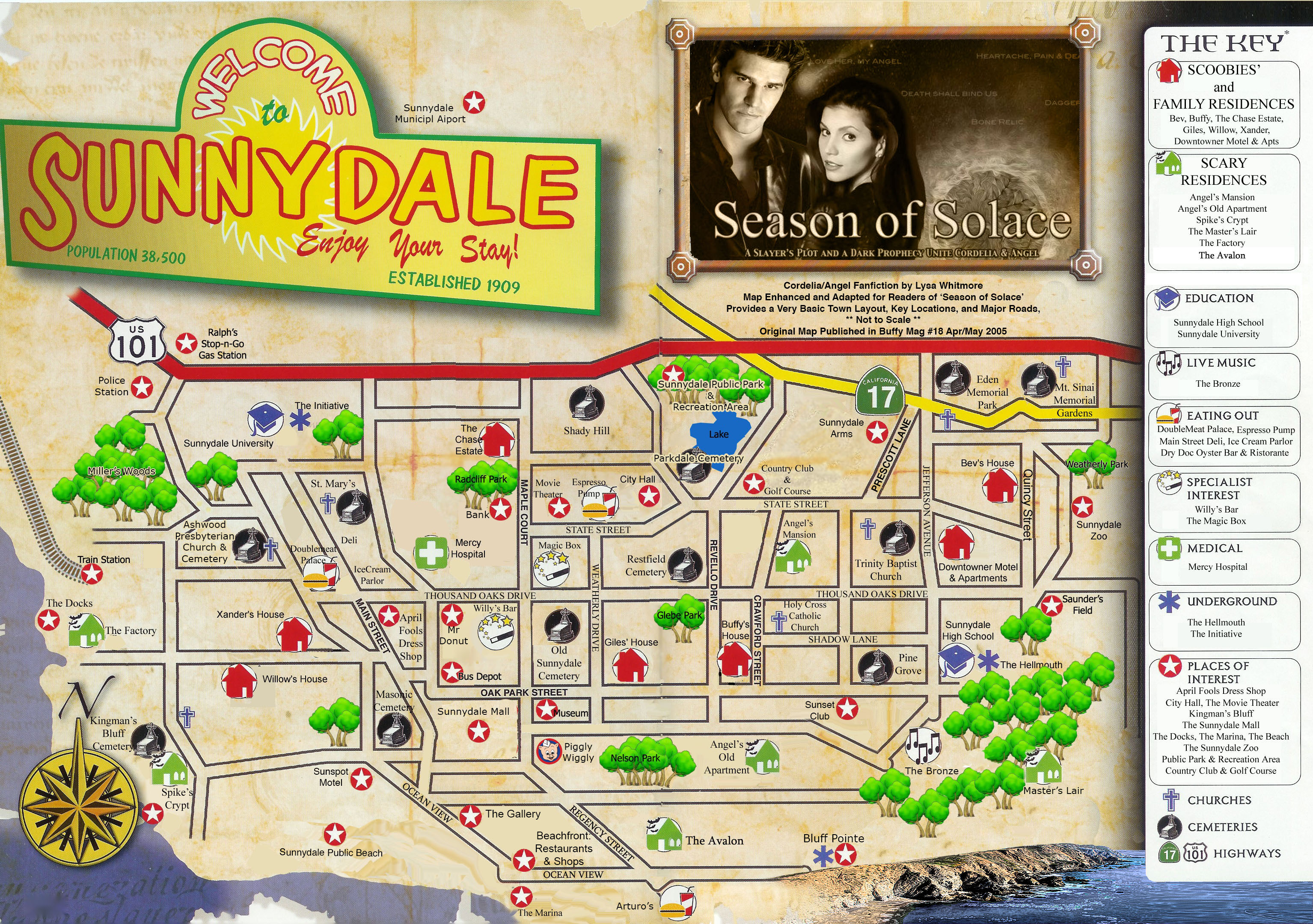 Map of Sunnydale